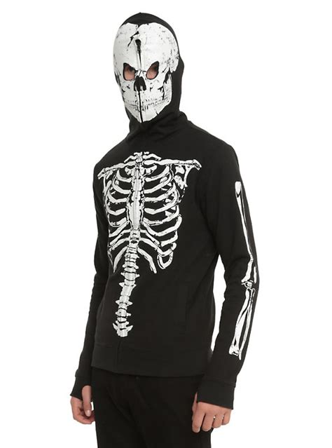 Hoodie Zipper Badboy black glow in the skeleton hoodie topic