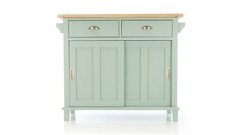 Belmont Mint Kitchen Island   Reviews   Crate and Barrel