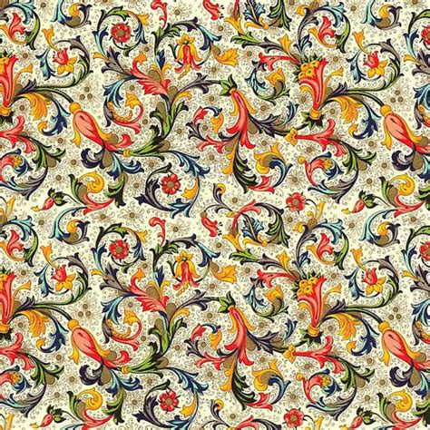Traditional Paper - traditional floral florentine print italian paper