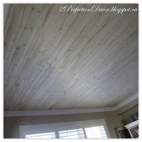 white wash ceiling planks 2perfection decor living room plank wood ceiling