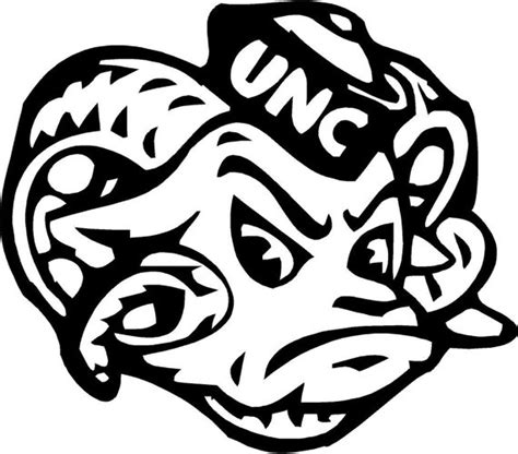 unc rams car decal window decal cell phone decal unc tar heels ram
