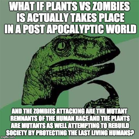 Meme Vs Meme - overthinking plants vs zombies imgflip