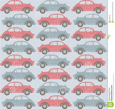 pattern paper uses seamless pattern with old cars on light blue background
