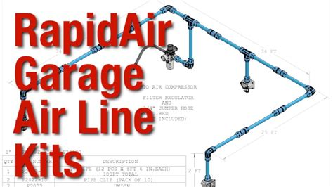 simple set up for rapidair garage air line kits from eastwood