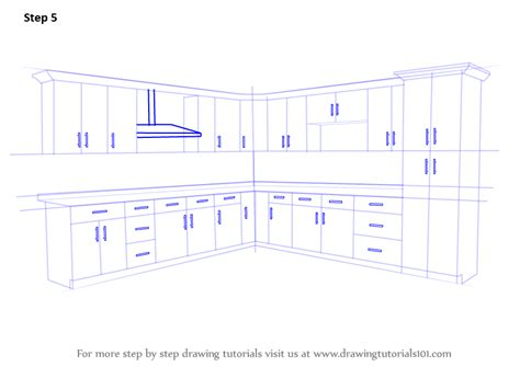 draw kitchen cabinets learn how to draw kitchen cabinets furniture step by