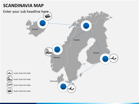 Mba In Scandinavian Countries by Scandinavia Nordic Countries Map Powerpoint Sketchbubble