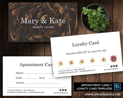 coffee club card template premade business card template name card template