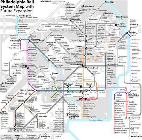 philadelphia subway map philadelphia rail system map philadelphia penn mappery
