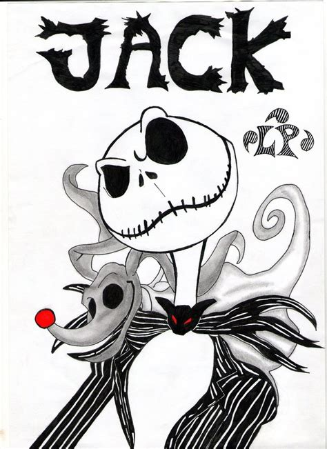 Jack Skellington By Lploki On Deviantart Zero From Nightmare Before Coloring Pages