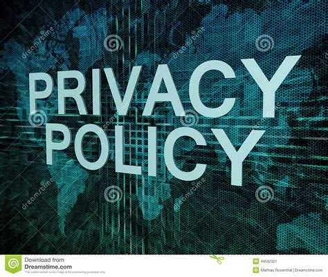 privacy policy the earth times privacy policy stock illustration image 49592321