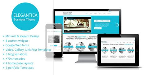 themeforest psd elegantica responsive business wordpress theme by