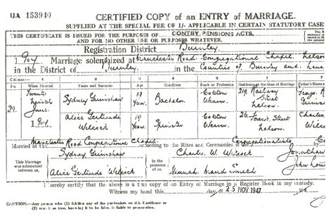 Connecticut Marriage License Records Sydney Grimshaw Inventor Grimshaw Origins And History