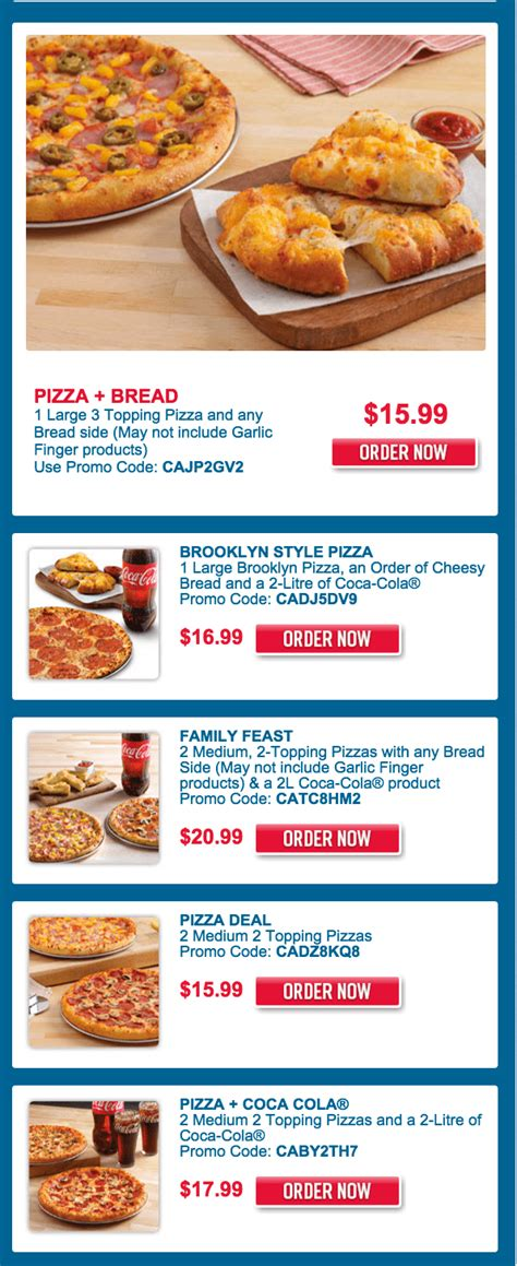domino pizza offer today domino s pizza canada promo code offers get 1 large 3