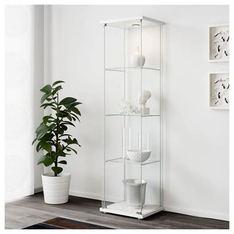 detolf glass door cabinet white 43x163 cm ikea