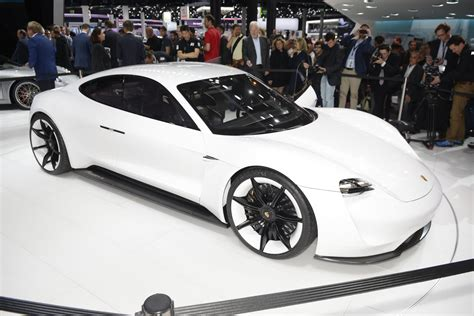 porsche mission e red porsche mission e live photos videos from frankfurt