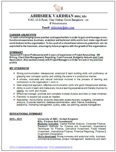 Cv Template Singapore 10000 Cv And Resume Sles With Free Best Resume Format Of 2015