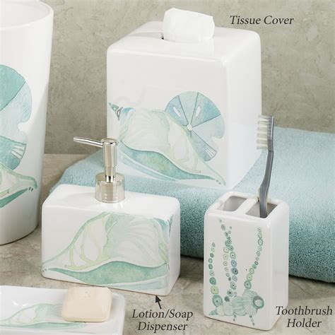 Coastal Bathroom Accessories La Mer Ceramic Coastal Bath Accessories