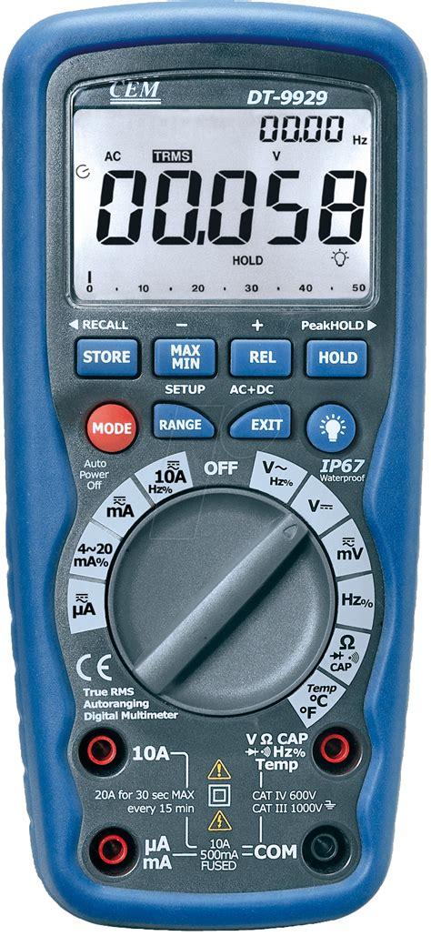 Usb Multimeter cem dt 9939 trms digital multimeter 4 1 2 digit w usb