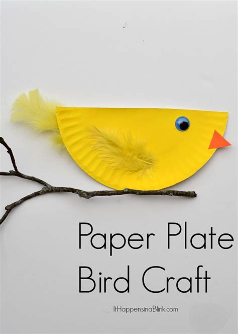 Bird Paper Plate Craft - paper plate bird and easy kid s craft tutorial