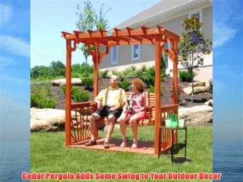 some swing cedar pergola adds some swing to your outdoor decor youtube