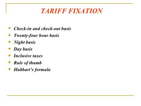 Rack Rate Definition by Tariff Plans