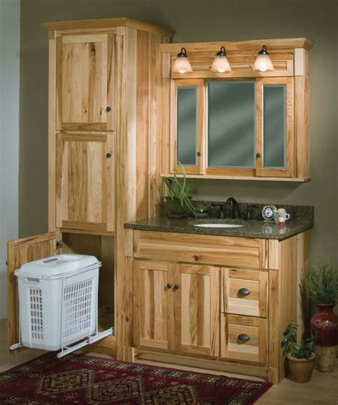 rustic bathroom linen cabinets 25 best ideas about rustic hickory cabinets on