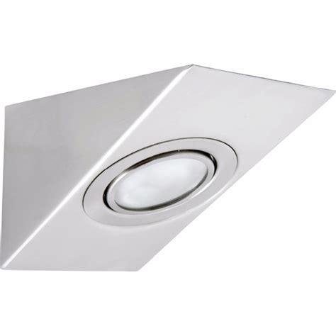 240v cabinet lighting brilliant lighting 240v brushed chrome libson angled