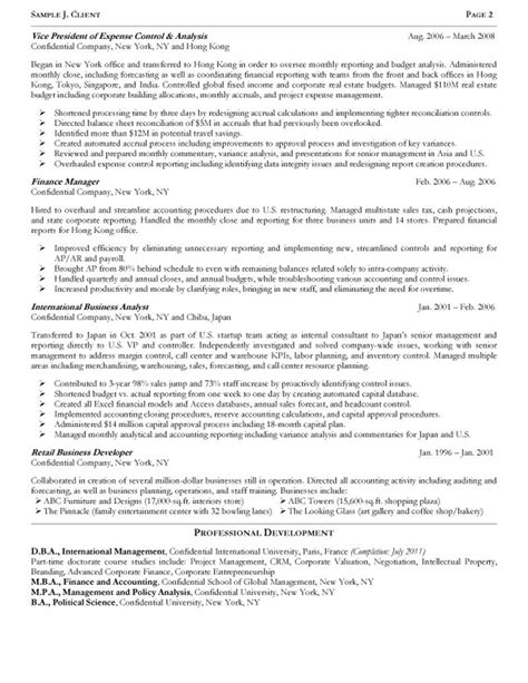 Resume Sle Finance Executive Accounting Executive Sle Resume 100 Images Ideas Of Sle Resume For Account Executive About