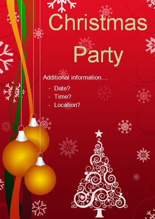 early learning resources christmas party editable poster