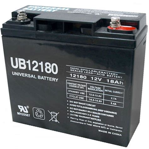 upg sla 12 volt i4 threaded post battery ub12180