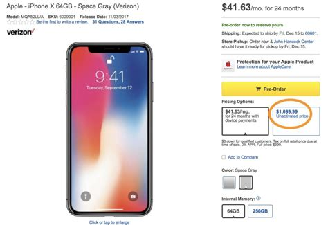 X Iphone Price Best Buy Charging A 100 Premium On Iphone X Price Says Customers Want This Flexibility