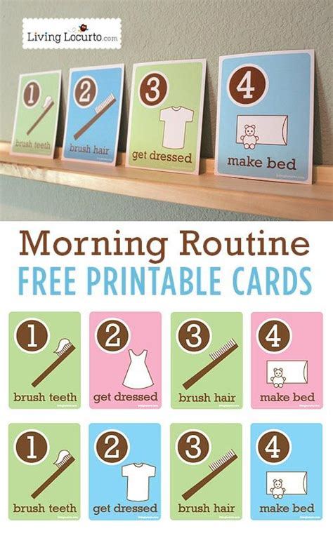 Free Morning Cards free printable morning routine cards organize it