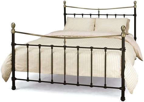 bronzing bed buy serene edwardian ll black with antique bronze metal