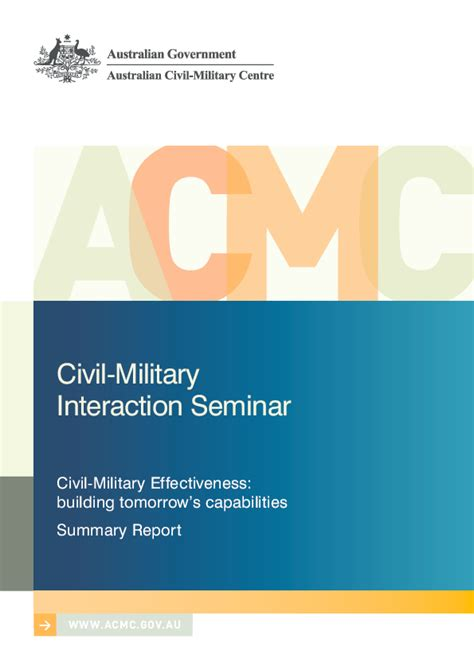 Pdf Civil Military Effectiveness Building Tomorrow S
