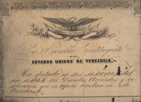 constituci 243 n de 1863 constitucion de los estados unidos un 28 de marzo de 1864 se aprueba la constituci 243 n de los