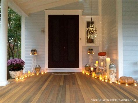 Our Victorian Front Porch Decorated For Halloween Diy Front Porch Chandelier