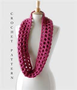 Crochet Infinity Scarf Patterns Easy Crochet Infinity Scarf Pattern Crochet Pattern Pdf