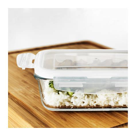 ikea food storage f 214 rtrolig food container clear glass 17x23x9 cm ikea