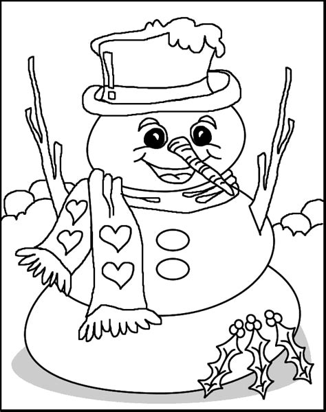 Cartoons Coloring Pages Snowman Coloring Pages Coloring Page Of Snowman
