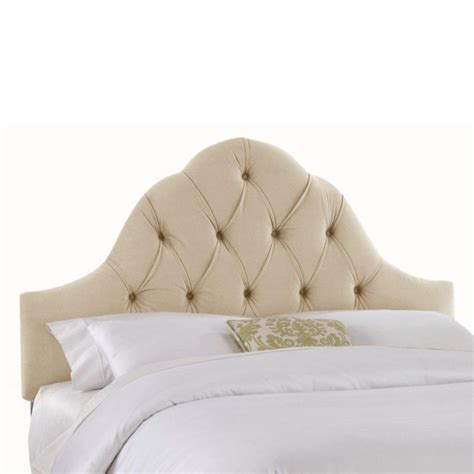 upholstered headboard in premier microsuede white