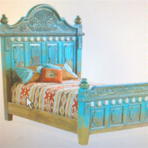 turquoise bed frame vintage turquoise bed frame design ideas pinterest