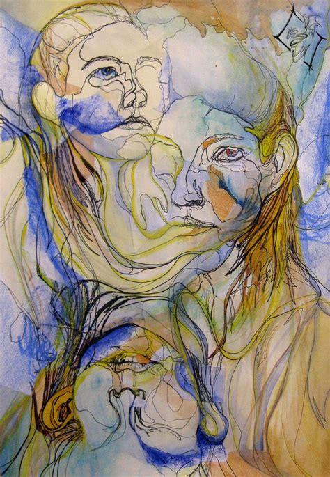 contour lines   face  sabrieldragonkin portrait