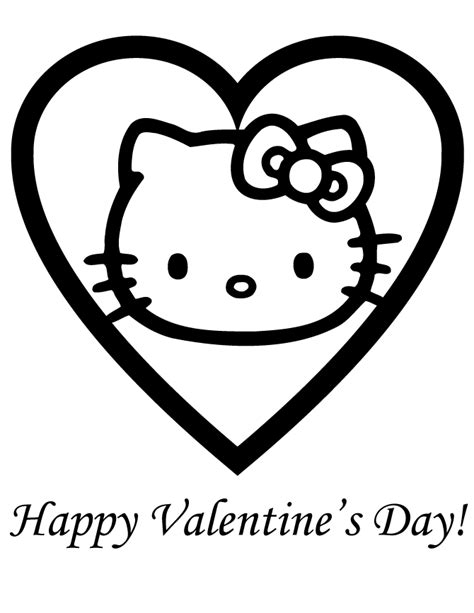 free hello kitty valentines day coloring pages hello kitty birthday card printable free coloring home