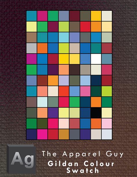 gildan color swatch gildan apparel colour swatches by theapparelguy on deviantart