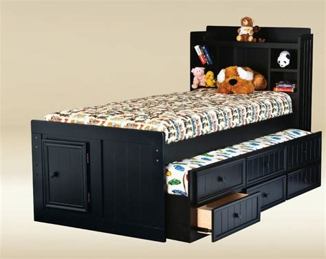twin bed with trundle and drawers twin size combo trundle with 3 drawers in optional finish modern kids beds other
