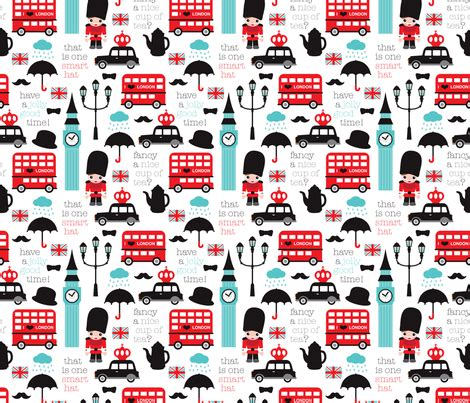 printable fabric paper uk crazy for london double decker tea big ben and travel icon