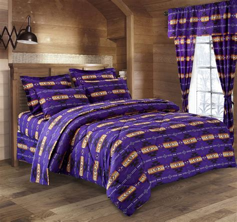 navajo comforter sets southwest design navajo print purple 4 piece comfort set