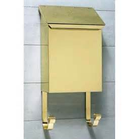 Polished Brass Wall Mount Mailbox Mailboxes Residential Mailboxes Column Wall Mount