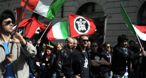 casa pound italia italian fascists and antifascists demonstrate in italian