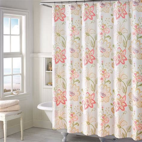 floral shower curtains fabric soft spring floral fabric shower curtain french country
